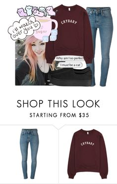 """""""Untitled #735"""" by baska-14 ❤ liked on Polyvore featuring Yves Saint Laurent and Opening Ceremony"""