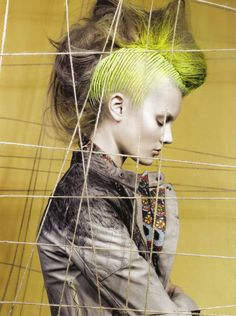 "Vogue Italia, Sept 2009 ""The Now Guidelines"" Model: Monika ""Jac"" Jagaciak Photographer: Craig McDean Stylist: Tabitha Simmons Hair: Eugene Souleiman Makeup: Mark Carrasquillo Manicure: Megumi Yamamoto"