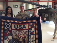 "Quilts of Valor: A ""Quilt of Valor"" Home Coming celebration quilti thing, quilt idea, patriot quilt"