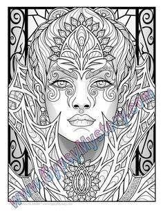 Single Coloring Page Fey Enchantress from the Magical