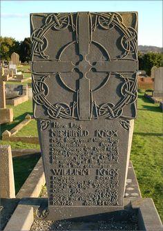 Archibald Knox (1864-1933) headstone at Braddan Cemetery, Isle of Man.
