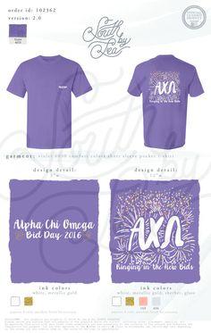 Alpha Chi Omega | AXO | Bid Day Shirt Design | Ringing In The New Bids | New…