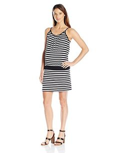 85dead4a60bb4 Three Seasons Maternity Womens Slip Strap Stripe Dress BlackWhite Small **  You can get additional details at the image link.Note:It is affiliate link  to ...