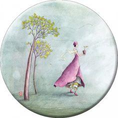 "Gaëlle Boissonnard magnet (88 mm) ""Candide"""