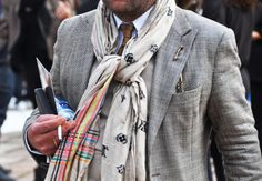 Cool combo, with the scarf adding JUST enough color, accenting off of the grays and neutrals.