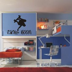 Kids wall decal Skater