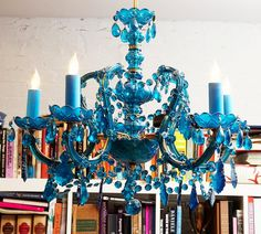 House of Turquoise: Happy New Year with Turquoise Chandeliers!
