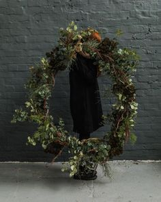 This big beautiful wreath was made for us by local florist Chloe Robinson using our Abigail Ahern faux flowers Us Shop, Local Florist, Faux Flowers, Christmas Inspiration, Big And Beautiful, Grapevine Wreath, Grape Vines, Christmas Wreaths, The Past