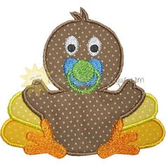 Baby Turkey Applique Design