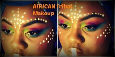 Colorful African-Inspired Makeup Look
