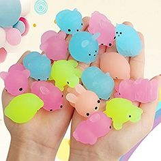 Mochi Animal Stress Squishies, Outee 22 Pcs Mochi Squishy Glow in Dark Toys Soft Squishy Stress Relief Animal Toys Mini Kawaii Animal Squishies Mochi Squeeze Squishy, Miniatures - Amazon Canada