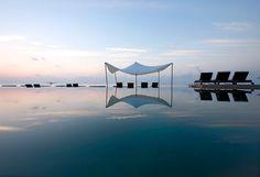 Constance Moofushi resort in the Maldives.