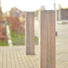 STREETLIFE R&R Bollards. Traffic posts made of hardwood beams and steel. #StreetFurniture #UrbanDesign #Bollard