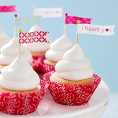 Treat your sweetie to a Valentine's Day cupcake that shows your love from the first bite. You'll fall in love with the easy decorating techniques and sweet flavors used to create these delicious gems that are perfect for Vale