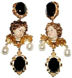 Image result for cherub earrings