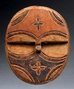 Africa | Small old mask from the Teke people of DR Congo, on the border region with Gabon | Wood and pigment; aged patina | Sold 2'300€ ~ (June '12)