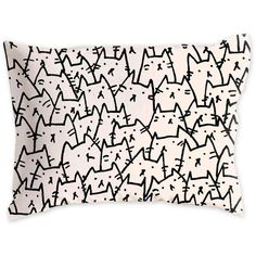 A Lot Of Cats Pillow Sham ❤ liked on Polyvore featuring home, bed & bath, bedding, bed accessories, pillows and cat bedding