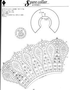 crochet collar pattern - cuello de ganchillo