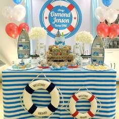 41 Ideas For Sailor Birthday Party Boy Nautical Theme 1st Birthday Boy Themes, Party Themes For Boys, Boy Birthday Parties, Boy First Birthday, Birthday Party Decorations, 70th Birthday, Party Favors, Birthday Greetings For Boyfriend, Sailor Birthday