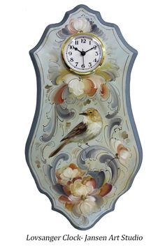 Contemporary clock from our Rosemaling Inspirations Vol.1
