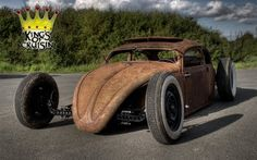 Hot Rod e Kustom: VW Beetle HoodRide, Chopped Look.