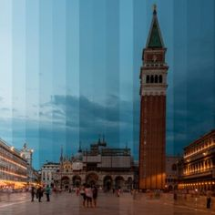 Richard Silver splices images of iconic  buildings to show the passing of time