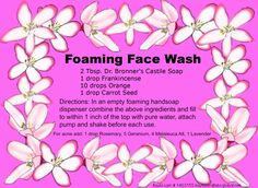 Homemade Foaming Face Wash for acne or troubled skin. - Contact me at: kaylalain@sbcglobal.net, YL ID # 1403155.