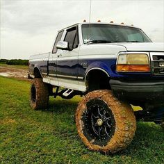 Classic Two-Toned Ford F-250 Pickup Truck