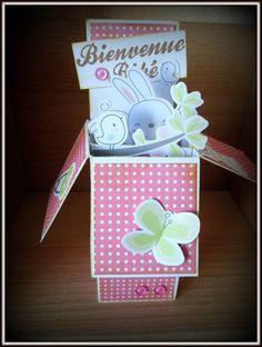 """Carte pop up """"Bienvenue bébé"""" ,enveloppe fournie : Cartes par sylviealacarte"""