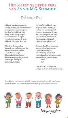 Dikkertje Dap - Annie M.G. Schmidt Schmidt, Poetry For Kids, Rhymes For Kids, Kids Songs, Stories For Kids, Drawing For Kids, Nursery Rhymes, Kids Playing, Annie