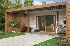 21 Welcoming Guest House and Cottage Ideas Backyard Guest Houses, Backyard Cottage, Backyard Office, Outdoor Office, Backyard House, Garden Office, Guest House Plans, House Floor Plans, Guest Cottage Plans