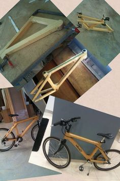 Step by step wood bicycle