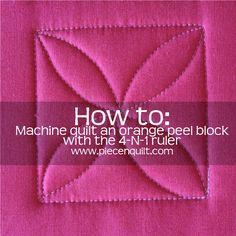 How to: Machine Quilt an Orange Peel Quilt Block