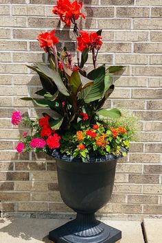 """Learn how to use the THRILLS FILLS SPILLS method for container design with June Spanier of June of all Trades, using the 23"""" Crescendo Urn from the TierraVerde collection of recycled ruber planters. In this video, June explains how to choose plants with different heights and growth potential to cascade over the sides of the planter throughout the summer season. Container Design, Rubber Material, Recycled Rubber, Urn, Timeless Design, Planter Pots, Recycling, Seasons, Summer"""