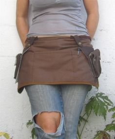 Earth Worker Apron Beige / Brown Heavy Duty By Consciouslyaltered, $67.00  Leather Apron, Work