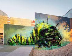 21 Street Art by Bordalo II in Carballo, Galicia, Spain at Rexenera Festival