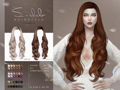 Sims 4 Curly Hair, Long Curly Hair, Curly Hair Styles, Sims Four, Sims 4 Mm, Club Hairstyles, Female Hairstyles, Sims 4 Piercings, Mod Hair