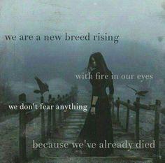 """Because we're already dead inside""sounds better as an ending."
