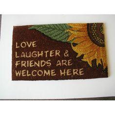 Geo Crafts, Inc Love, Laughter Doormat