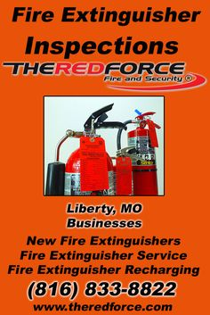 Fire Extinguisher Inspections Liberty, MO (816) 833-8822 Check out The Red Force Fire and Security.. The Complete Source for Fire Protection in Missouri. Call us Today!