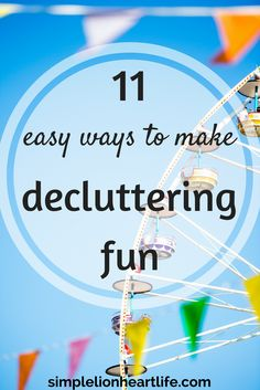 11 Easy Ways to Make Decluttering Fun and embrace minimalism. Don't let decluttering your home be something you dread! Check out these simple tips to make decluttering a little more fun, so you can clear the clutter faster and easier! Getting Rid Of Clutter, Getting Organized, Planners, Clutter Control, Declutter Your Life, D House, Tiny House, Life Organization, Organizing Ideas