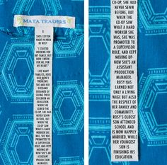 """""""A few weeks ago, we discovered a campaign created by the Canadian Fair Trade Network. It highlights the point that a garment's tag really doesn't tell you much. Made in India, huh?What if the tag told the whole story? Like this..."""""""