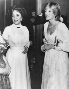 Diana attends the play 'Little Foxes' starring Elizabeth Taylor