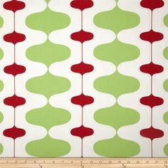 Premier Prints Ivon Stripe Kiwi/Lipstick Fabric