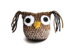 Brown Owl crochet amigurumi by Christinescraftbox on Etsy, £3.00