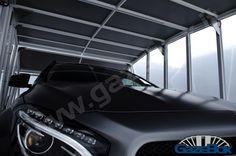 GazeBox Luxury Carport, CarStorage, MotorcycleShed, Garage for your vehicles! Modern Carport, Modern Gazebo, Metal Carports, Metal Garages, Car Shed, Car Shelter, Portable Garage, Carport Designs, Steel Garage