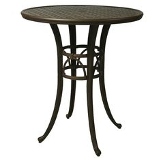 You'll love gathering around this Impacterra 9000 Series 42 in. Round Outdoor Bar Table the next time you have an outdoor shindig at your home. Outdoor Pub Table, Patio Bar Table, Round Bar Table, Dining Table In Kitchen, Pastel Furniture, Dining Furniture, Home Furniture Online, Bistro Set, Magnolia