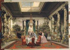 La Salle à manger de la princesse Mathilde, rue de Courcelles, Giraud Sébastien Charles, 1854, Musee du Second Empire