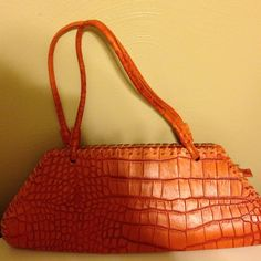 Purse Genuine leather made in Italy. Burnt orange. Charlie lapson Bags Shoulder Bags