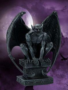 Elfen Figur Gothic Engel Statue 62 cm Nacht der Raben